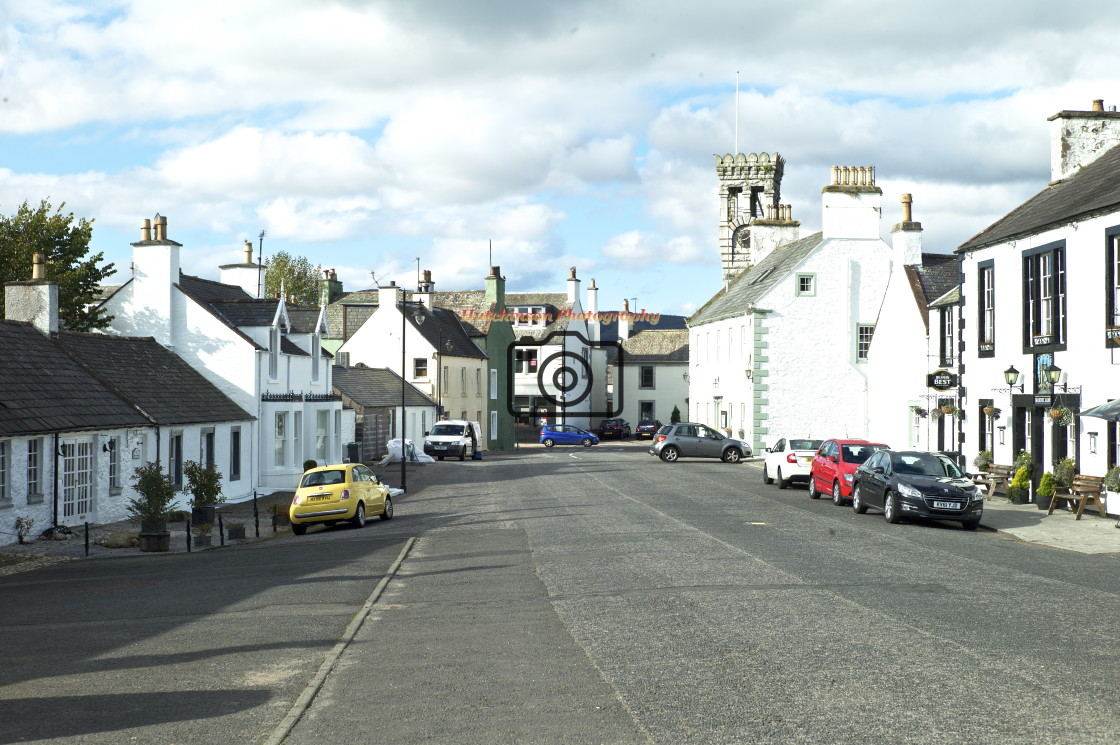 """Ann Street, Gatehouse of Fleet, Dumfries and Galloway,"" stock image"