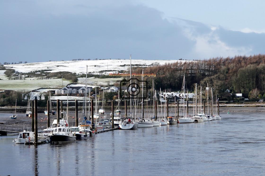 """Kirkcudbright Marina"" stock image"