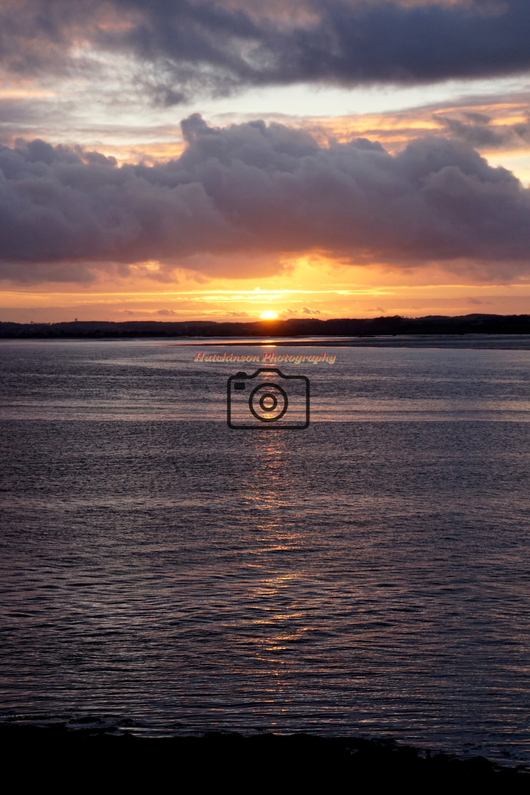 """""""Sunset River Bladnoch, Dumfries and Galloway"""" stock image"""