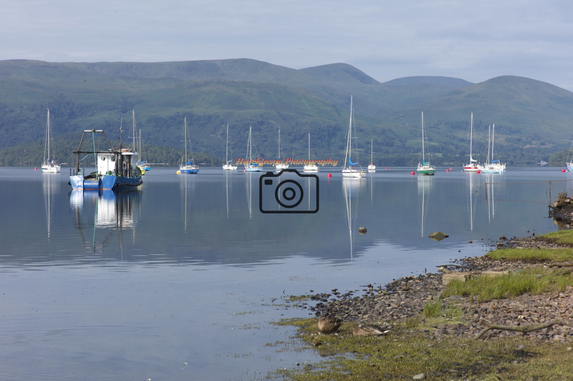 """Boats, Loch Lomond, Argyll"" stock image"