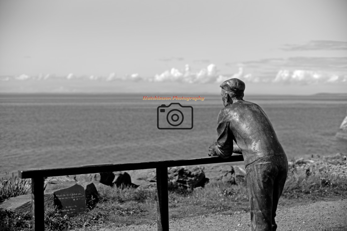 """""""Fisherman Statue. Dumfries and Galloway"""" stock image"""
