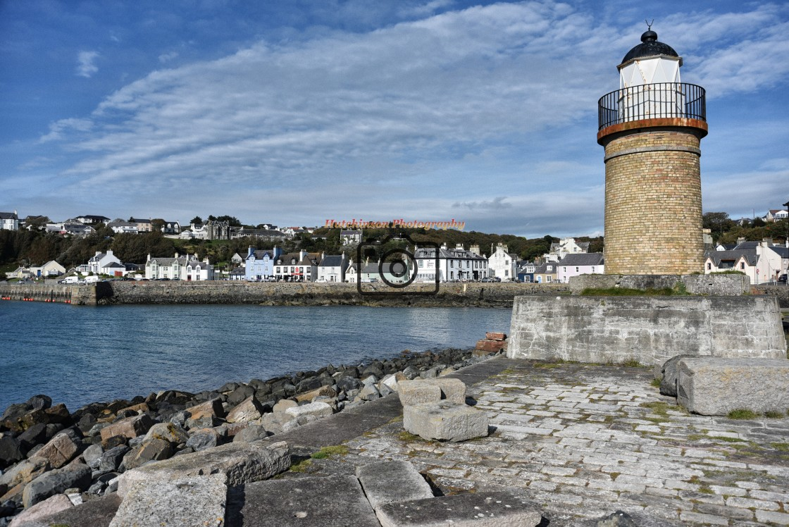 """""""PortPatrick Harbour Dumfries and Galloway Scotland"""" stock image"""