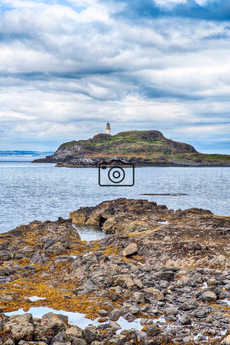 """Lighthouse on Fidra Island"" stock image"