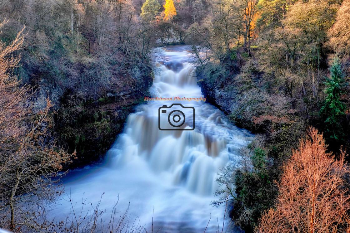 """Falls of Clyde, ""Corra Linn"""" stock image"