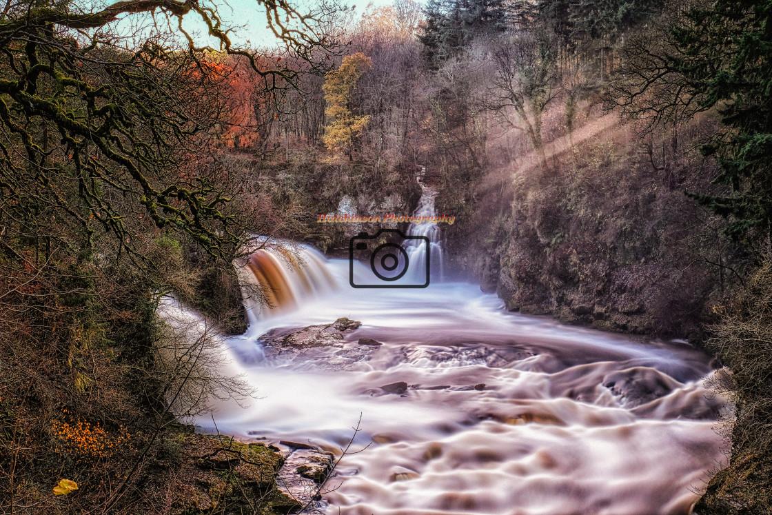 """Falls of Clyde, ""Bonnington Linn"""" stock image"