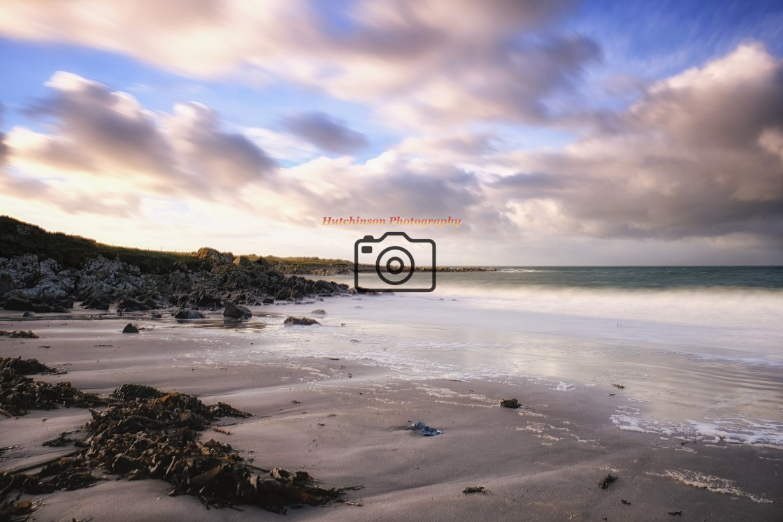 """""""Winters afternoon at Adrwell Beach"""" stock image"""