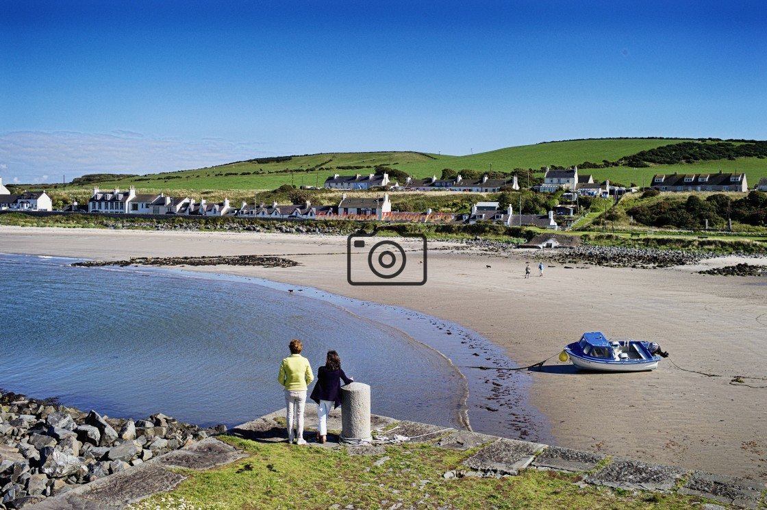 """""""Port Logan Dumfries and Galloway"""" stock image"""