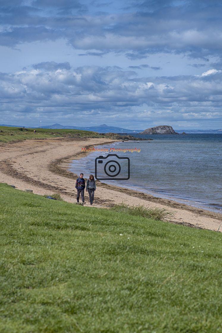 """Coastline at North Berwick, East Lothian."" stock image"