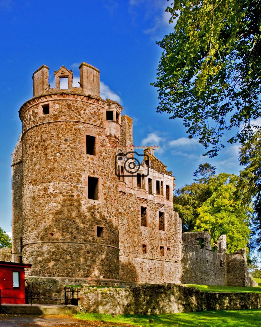 """""""Huntley Castle"""" stock image"""