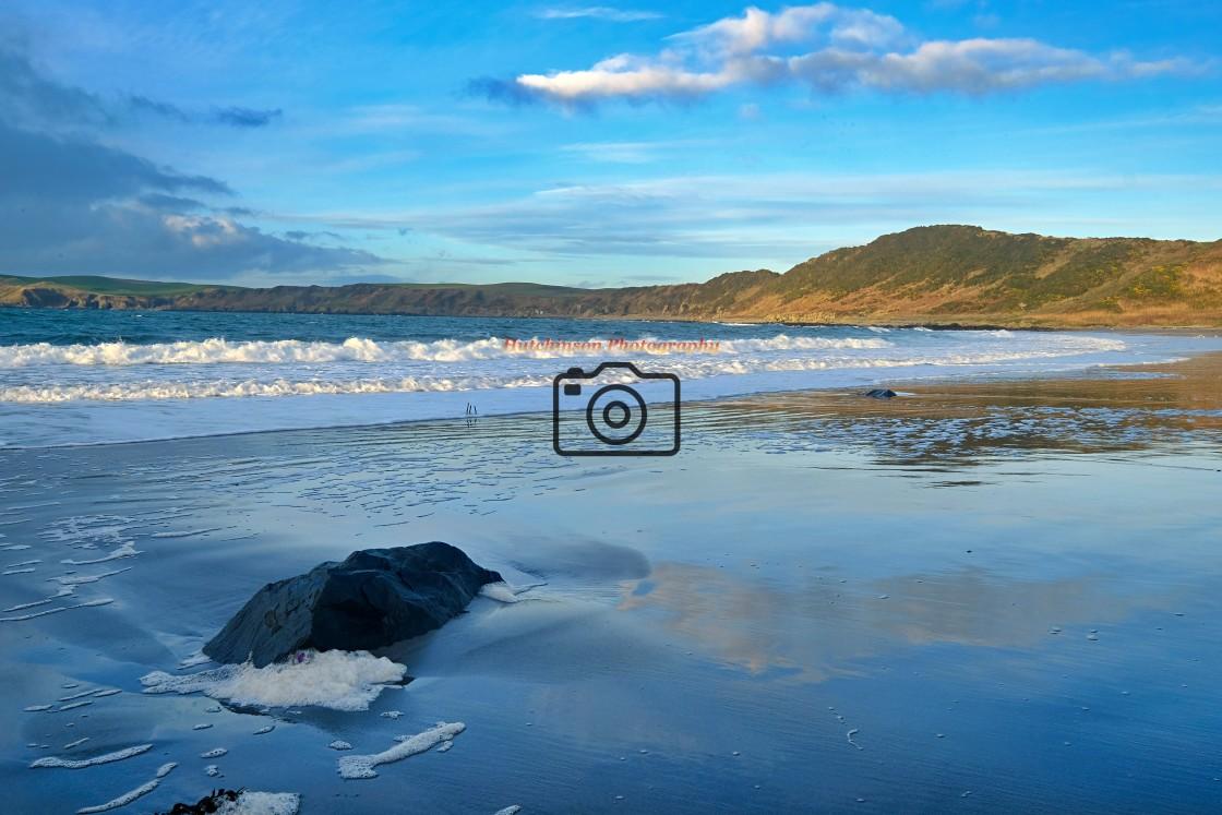 """Ardwell Beach in winter"" stock image"