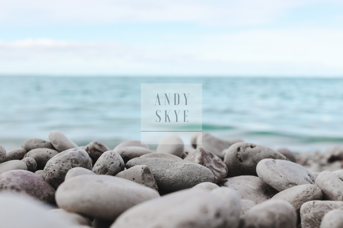 """Clearwater Limestone Lake Manitoba Canada"" stock image"