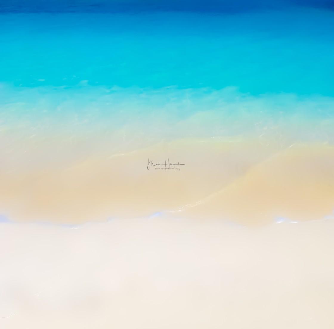 """Photographic Artwork - Bermuda Beach Waves"" stock image"