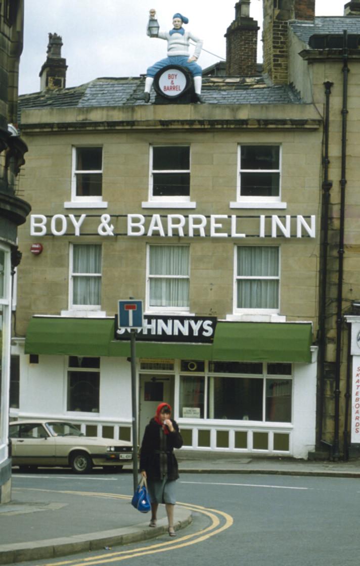"""Boy and Barrel Inn Huddersfield, West Yorkshire."" stock image"