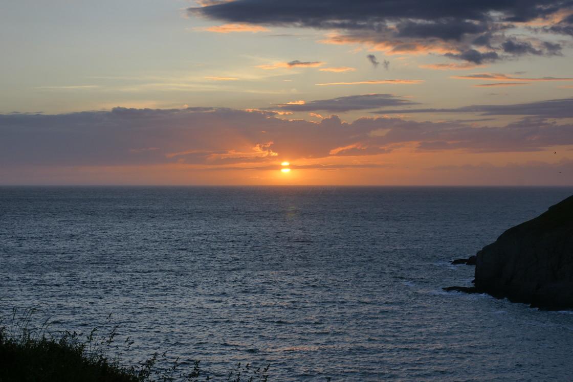 """""""Sunset Cardigan Bay"""" stock image"""