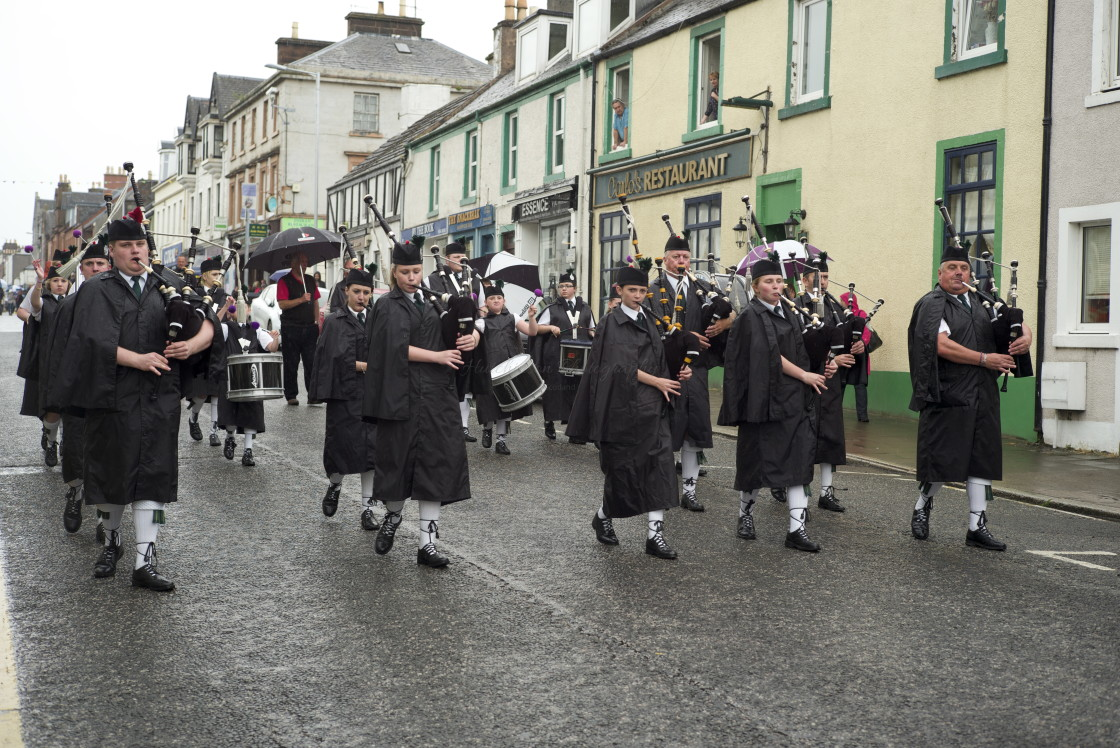 """Pipe Band Scotland."" stock image"