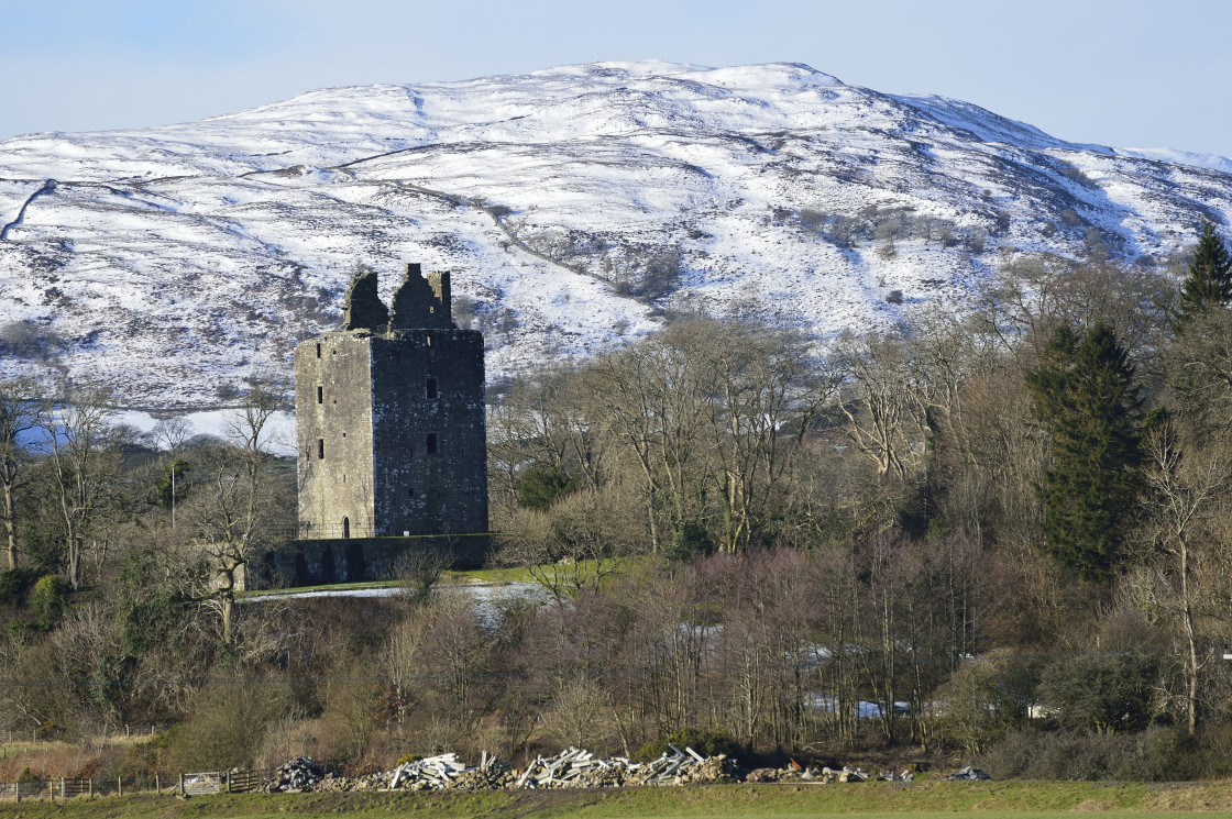 """""""Cardoness Castle Dumfries and Galloway in winter"""" stock image"""