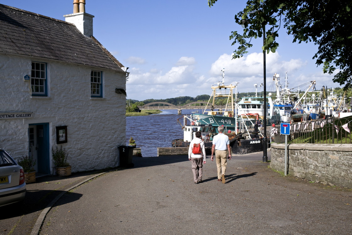 """""""Kirkcudbright Harbour, Dumfries and Galloway."""" stock image"""