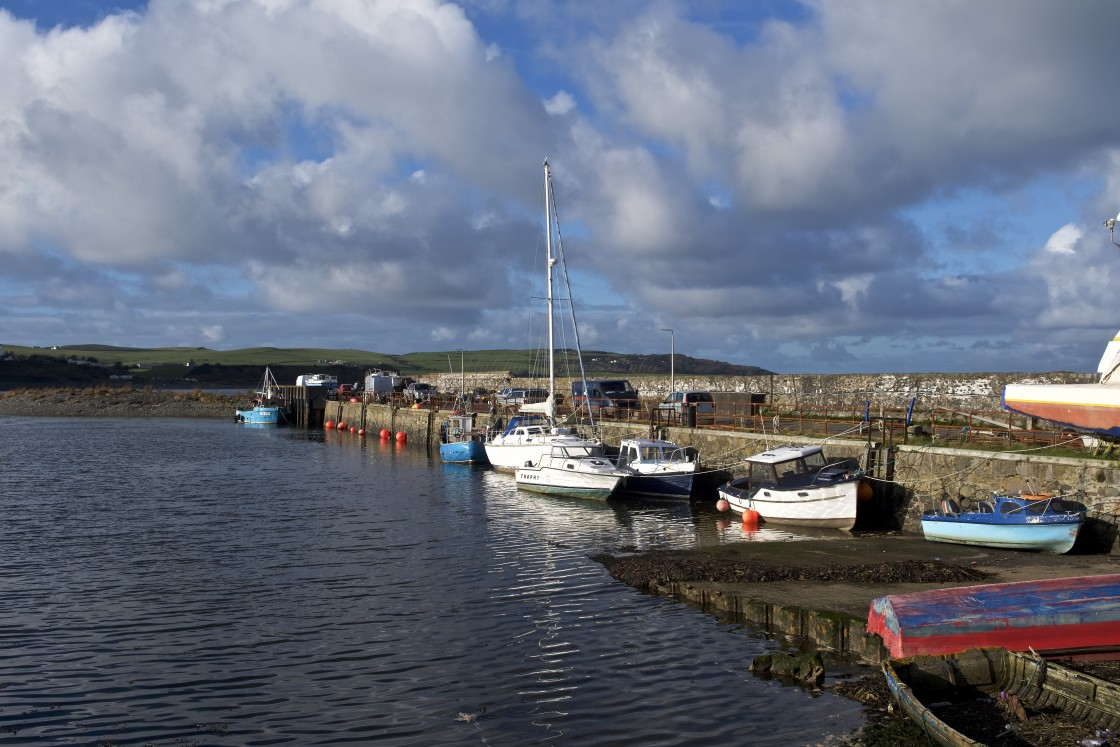 """""""Drummore Harbour, Dumfries and Galloway"""" stock image"""