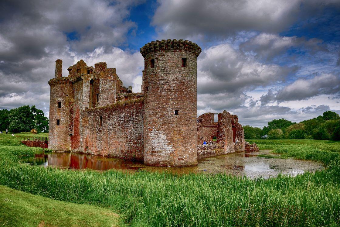 """Caerlaverock Castle, Dumfries and Galloway"" stock image"