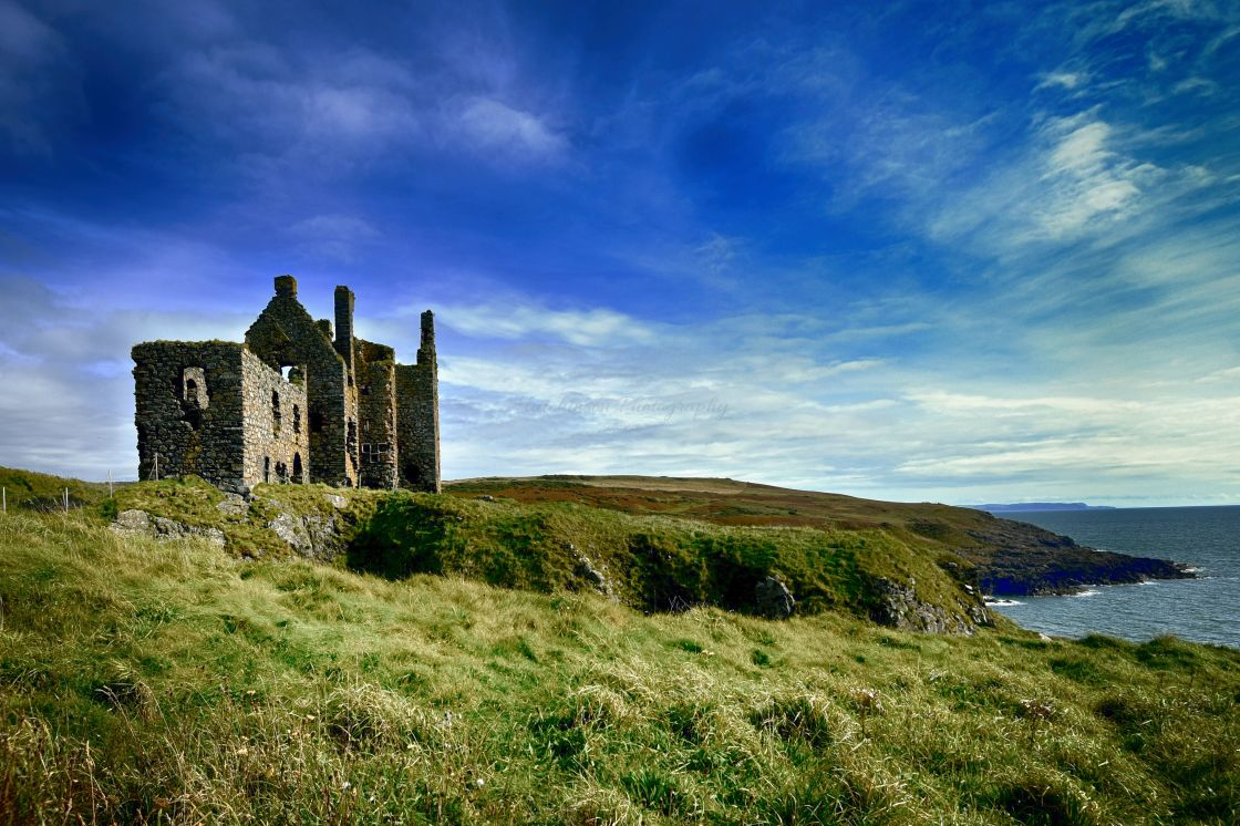 """""""Dunskey Castle Dumfries and Galloway, Scotland"""" stock image"""
