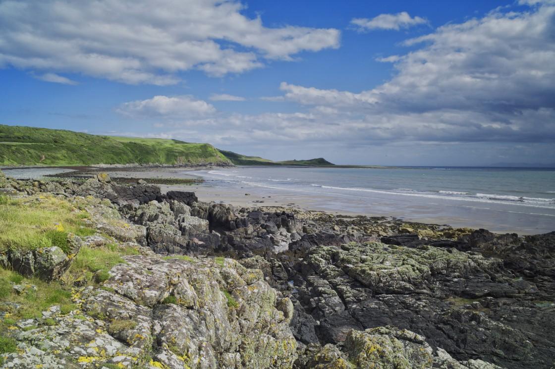 """Monreith Beach, Dumfries and Galloway Scotland"" stock image"