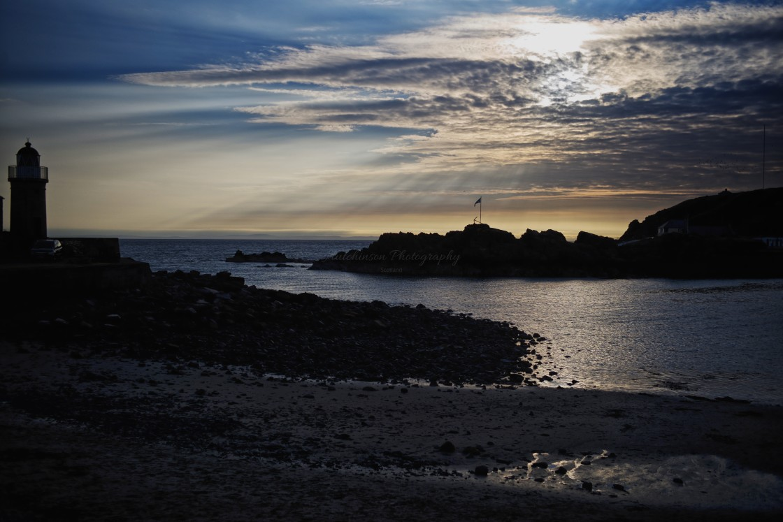 """""""Evening light at Portpatrick Dumfries and Galloway, Scotland"""" stock image"""
