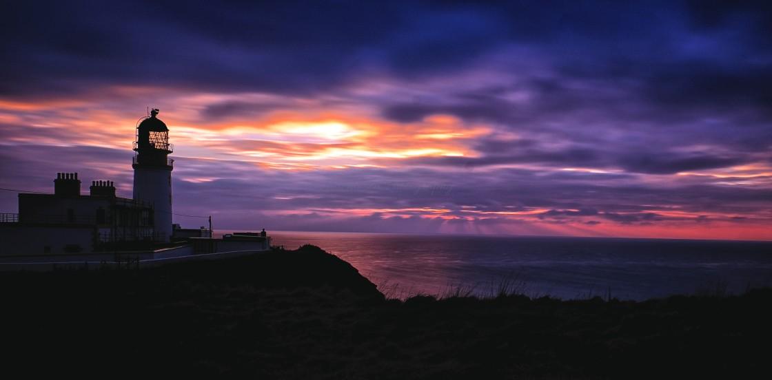 """""""Sunset At Killantringan Bay, Dumfries and Galloway"""" stock image"""