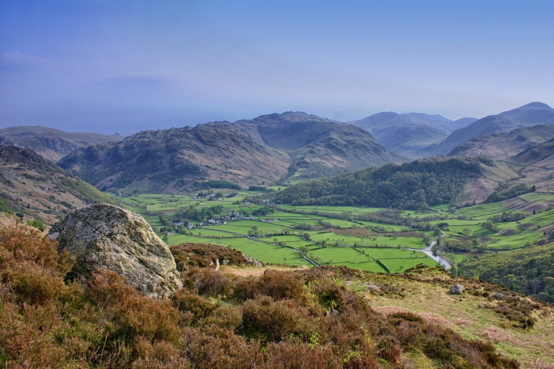 """Borrowdale Fells"" stock image"