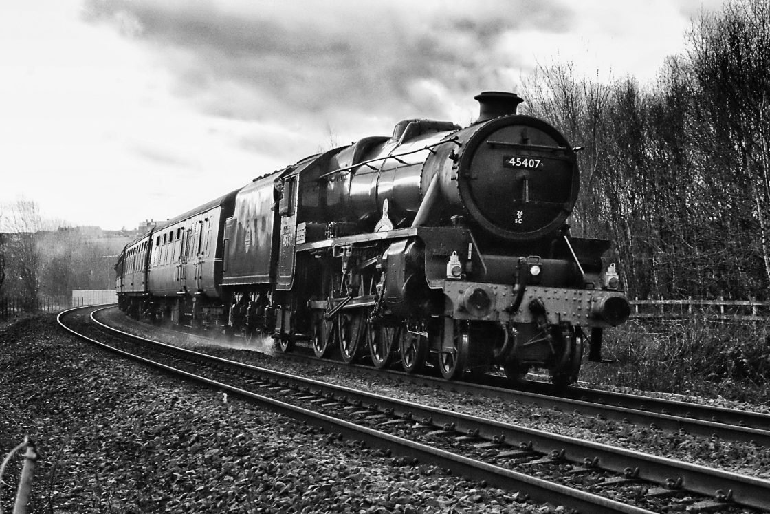 """Steam at Low Moor"" stock image"