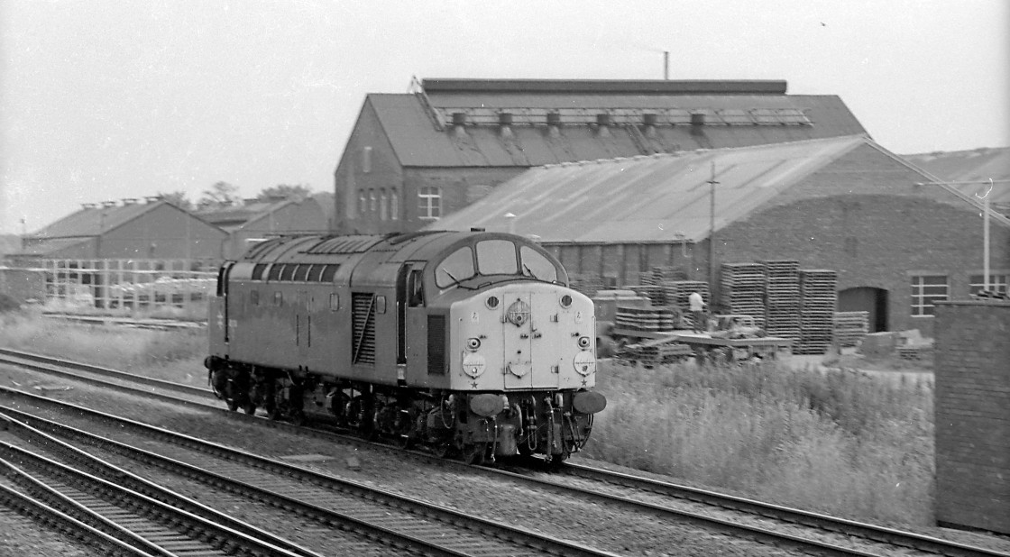 """BR Class 40 at Selby"" stock image"