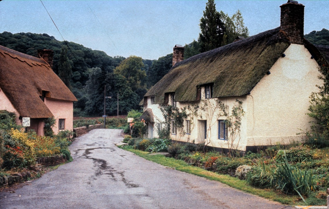 """Thatched Cottages"" stock image"
