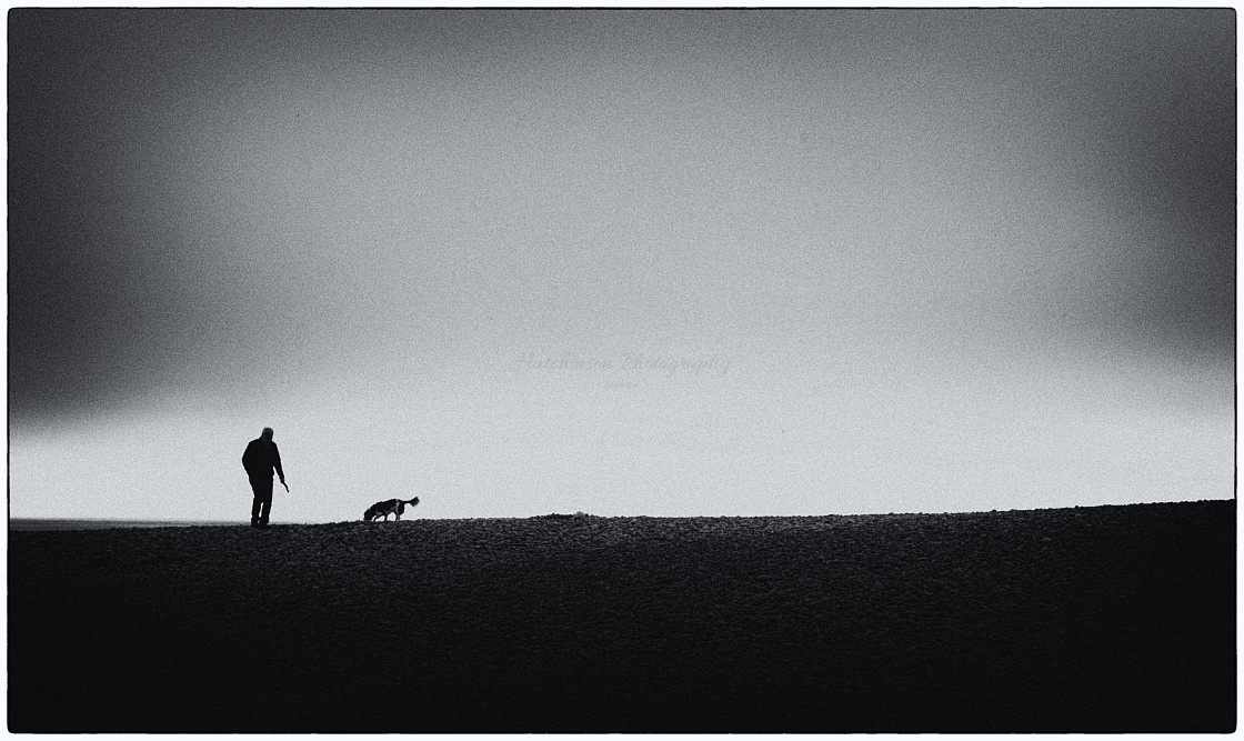 """One Man & his Dog"" stock image"