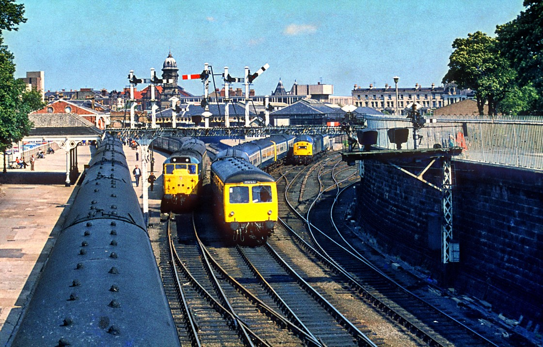 """Scarbrough Station 1980's"" stock image"