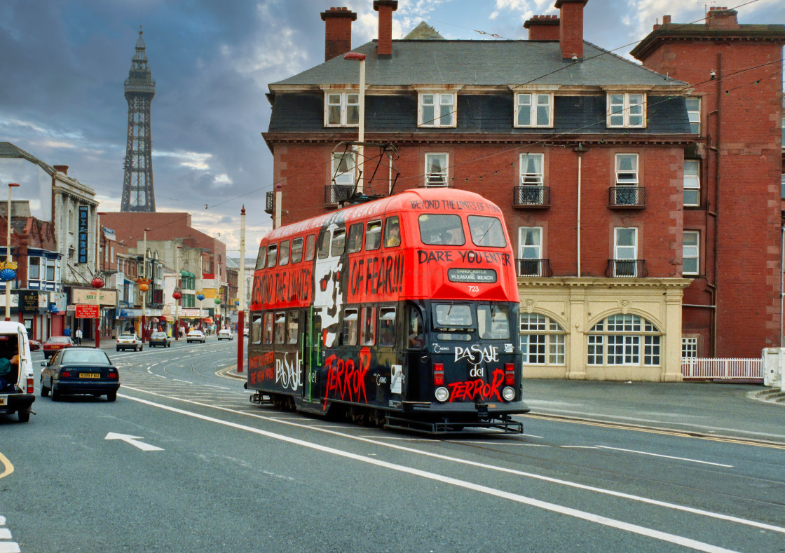 """Old Blackpool Tram 723"" stock image"