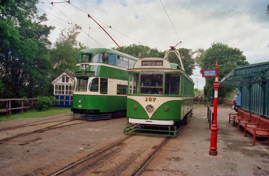 """Liverpool & Blackpool trams"" stock image"