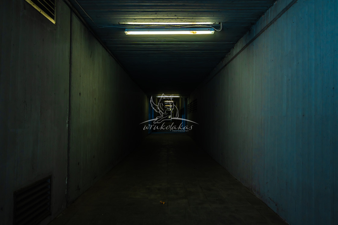 """""""small and dark tunnel"""" stock image"""