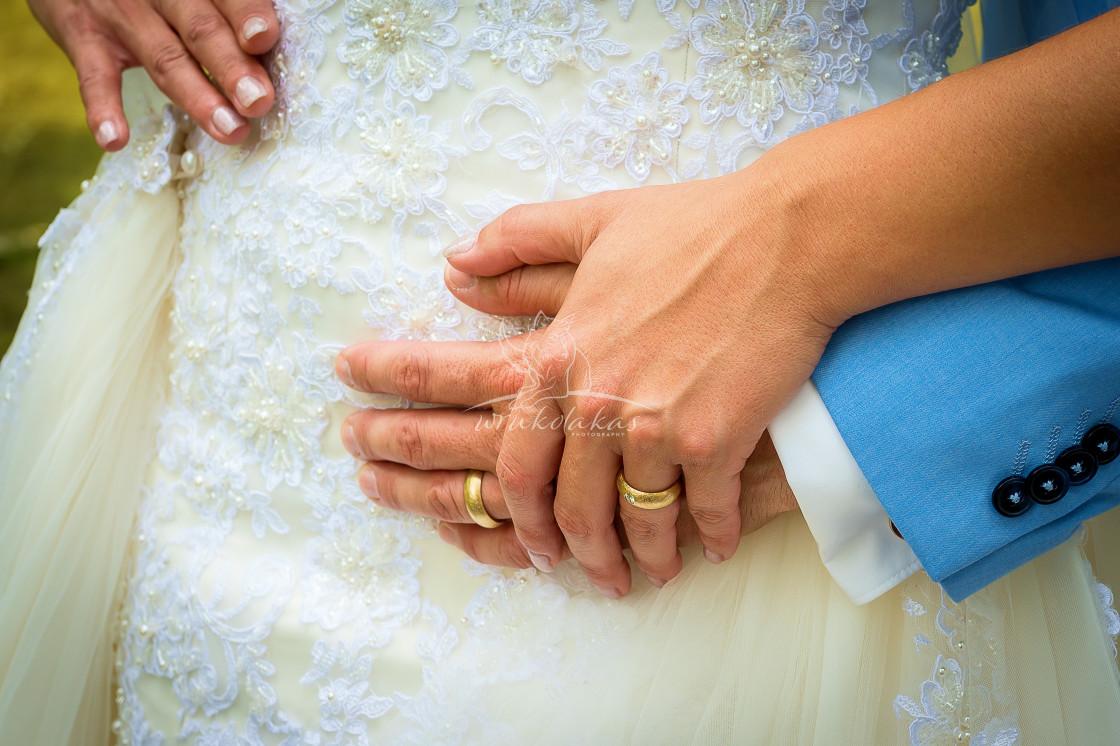 """wedding in white"" stock image"