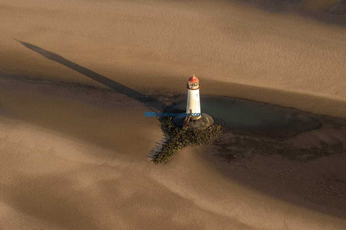 """Point of Ayr Lighthouse"" stock image"