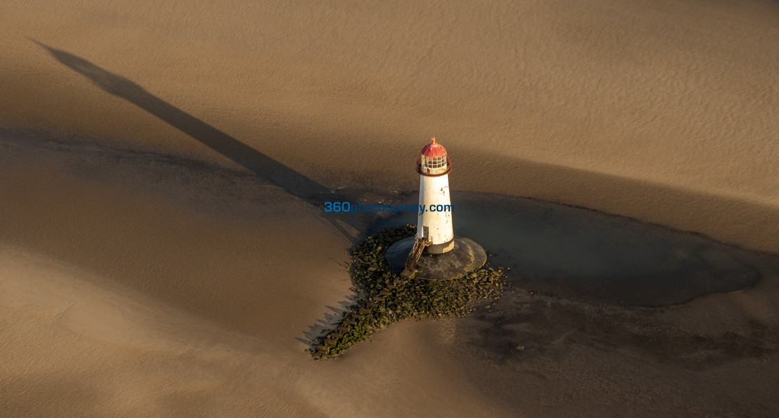 """""""Point of Ayr Lighthouse"""" stock image"""