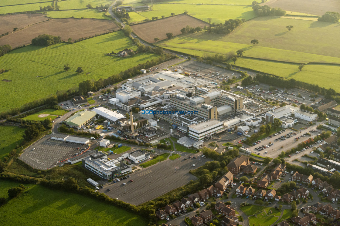 """Aerial photo of Glan Clwyd Hospital 200919 3"" stock image"