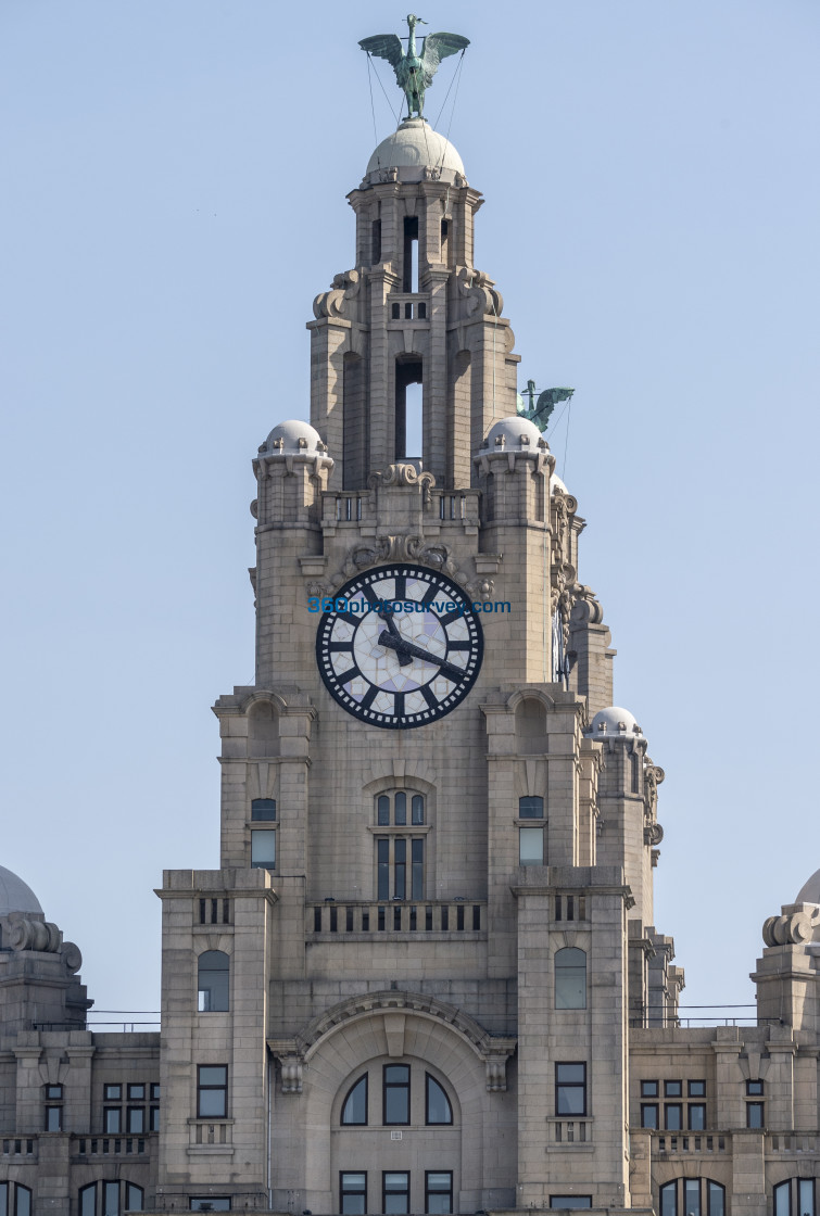 """Liver Building Clock 190422"" stock image"