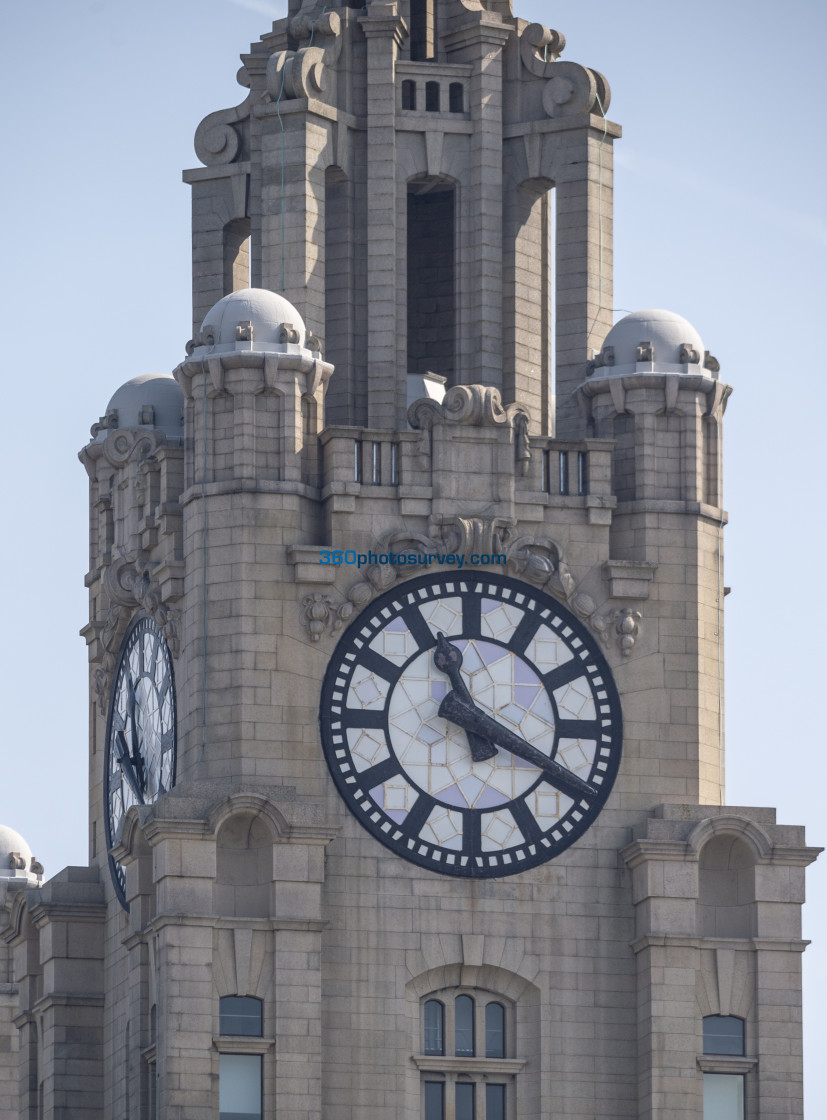"""Liver Building Clock 190422"" stock image"