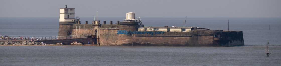 """""""Fort Perch Rock 190422"""" stock image"""