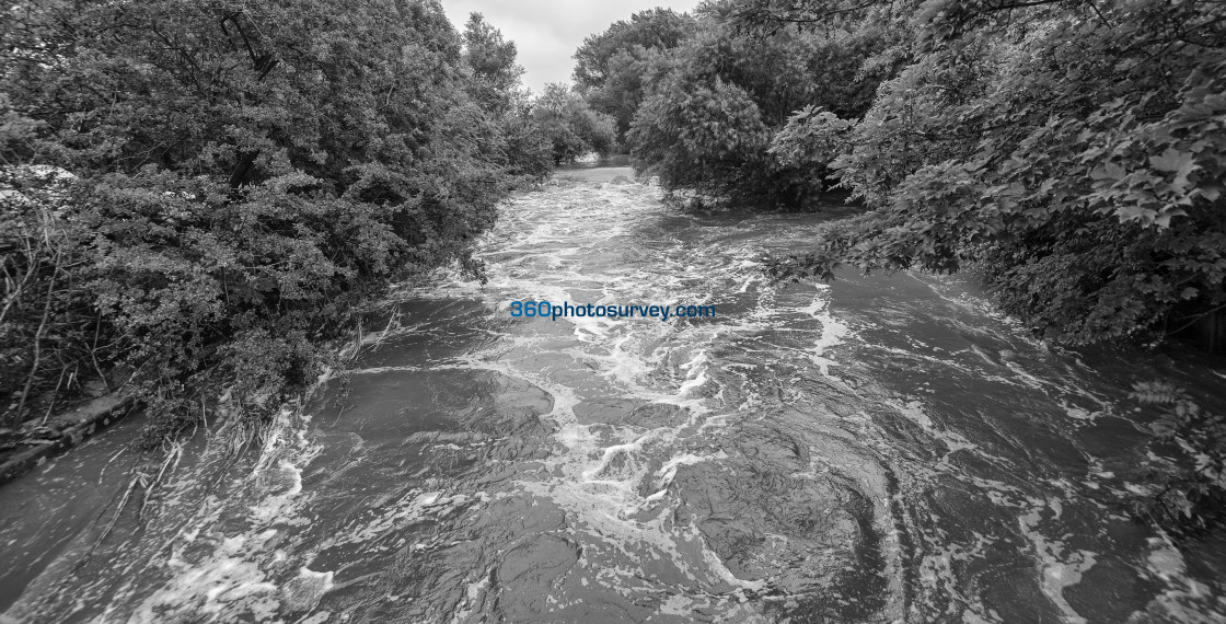 """River Bolin in flood 190822"" stock image"