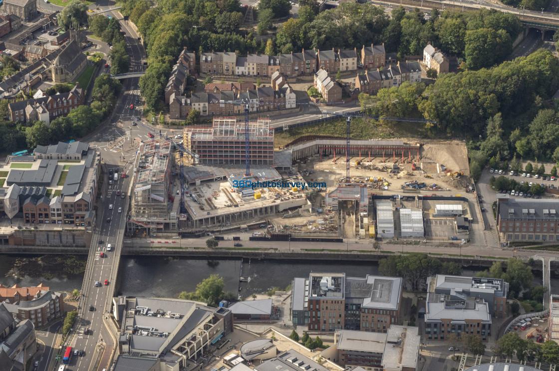 """Durham Milburngate development aerial photo"" stock image"