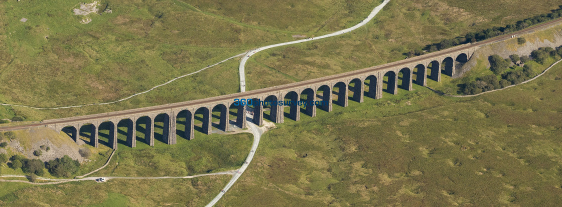 """Ribblehead Viaduct aerial photo 200919 128"" stock image"