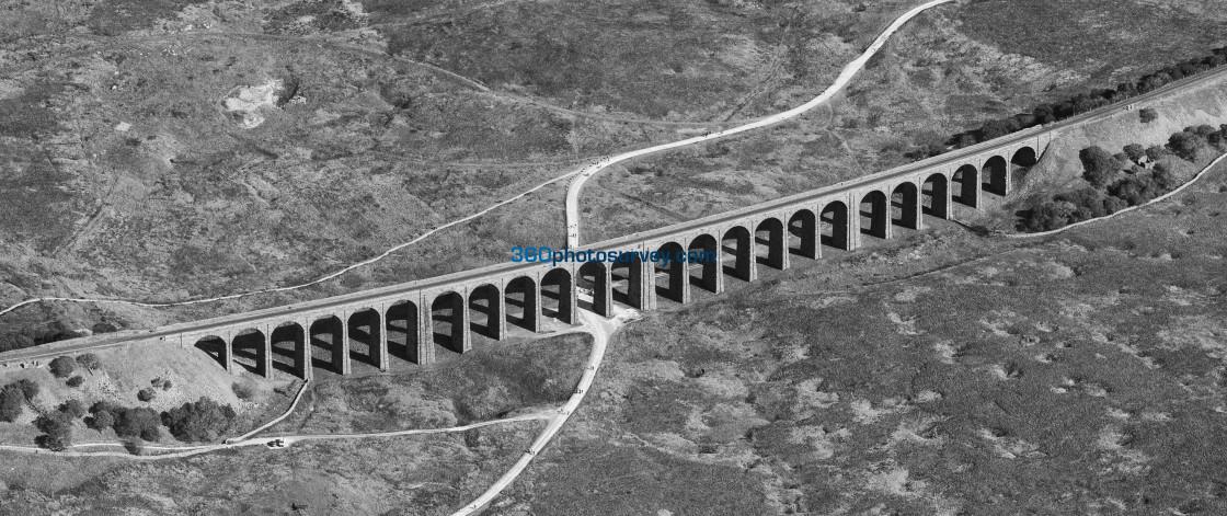 """Ribblehead Viaduct aerial photo 200919 128"" stock image"