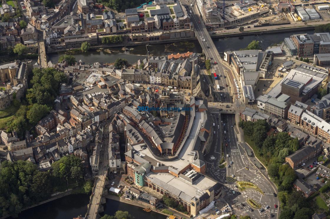 """Durham City Centre aerial photo 200919 118"" stock image"