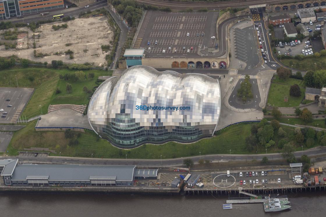 """Gateshead Sage aerial photo 200919 120"" stock image"