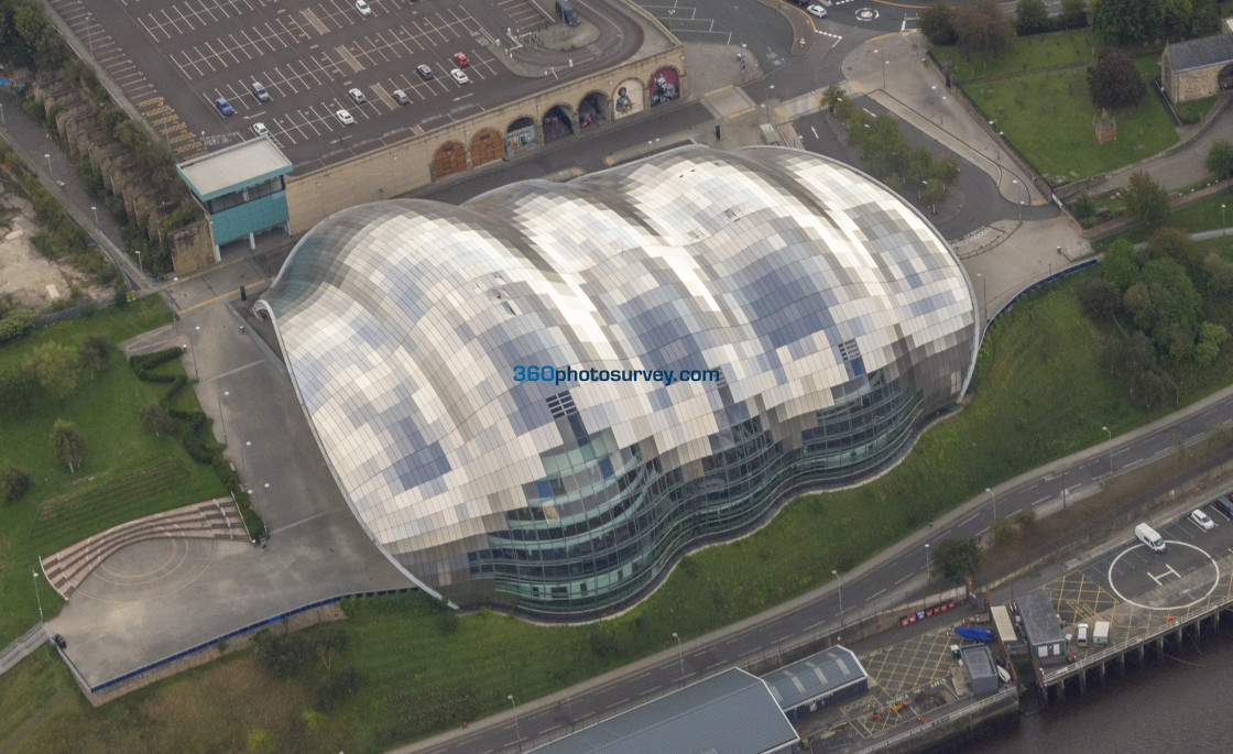 """Gateshead Sage aerial photo 200919 120"" stock image"